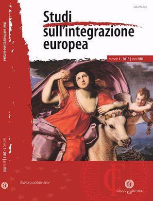 Immagine di Studi sull' integrazione europea - Anno  VIII, n.1