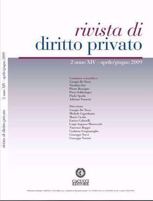 Immagine di Rivista di diritto privato - Anno XIV, n.2