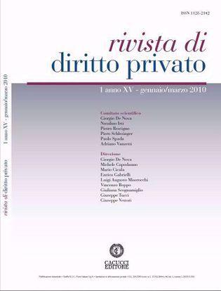 Immagine di Rivista di diritto privato - Anno XV, n.1