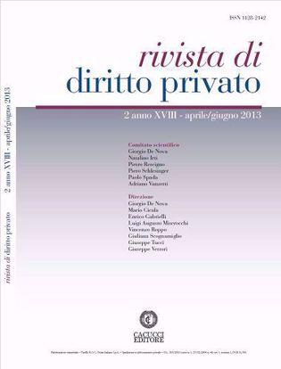 Immagine di Rivista di diritto privato - Anno XVIII, n.2