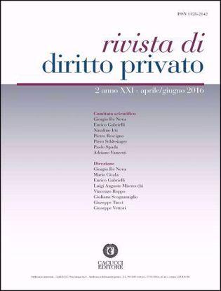Immagine di Rivista di diritto privato -Anno XXI, n.2