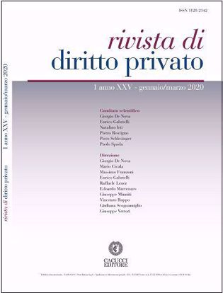 Immagine di Rivista di diritto privato - Anno XXV, n.1