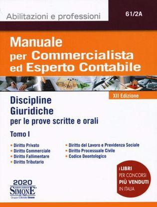 Immagine di Manuale per commercialista ed esperto contabile. Discipline giuridiche per le prove scritte e orali. Tomo I