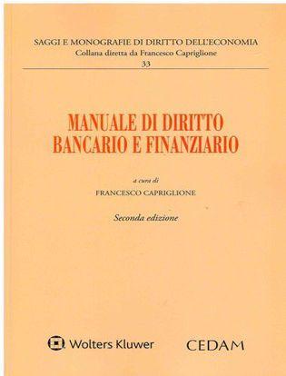 Immagine di Manuale di diritto bancario e finanziario.