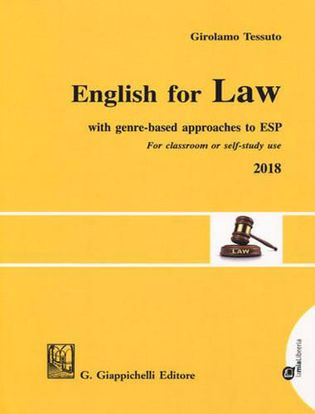 Immagine di English for law. With genre-based approaches to ESP. For classroom or self-study use 2018