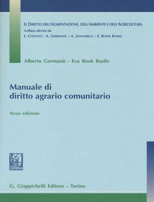 Immagine di Manuale di diritto agrario comunitario