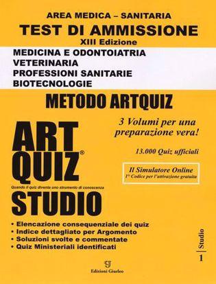 Immagine di Artquiz studio. Test di ammissione a: medicina, odontoiatria, veterinaria, professioni sanitarie, biotecnoloolge. Area medica-sanitaria. Con software di simulazione