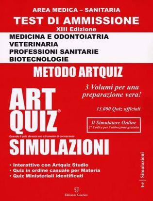 Immagine di Artquiz simulazioni. Test di ammissione a: medicina, odontoiatria, professioni sanitarie. Area medica-sanitaria