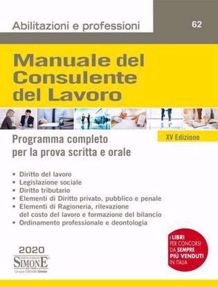 Immagine di Manuale del consulente del lavoro. Programma completo per la prova scritta e orale. Con Contenuto digitale per accesso on line