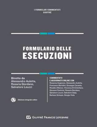 Immagine di Formulario delle esecuzioni.