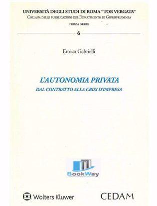 Immagine di L'autonomia privata. Dal contratto alla crisi d'impresa.