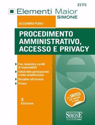 Immagine di Procedimento amministrativo, accesso e privacy.
