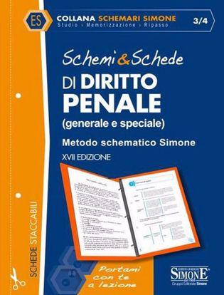 Immagine di Schemi & schede di diritto penale (generale e speciale). Metodo schematico Simone.