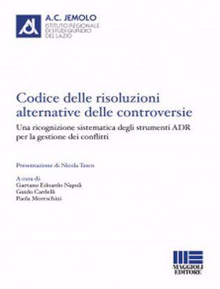 Immagine di Codice delle risoluzioni alternative delle controversie.
