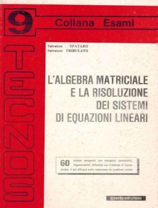 Immagine di L'agebra matriciale e la risoluzione dei sistemi di equazioni linerari. Vol. 9