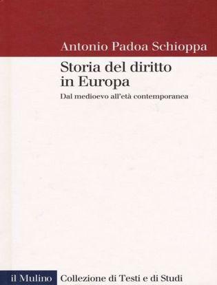 Immagine di Storia del diritto in Europa. Dal Medioevo all'età contemporanea