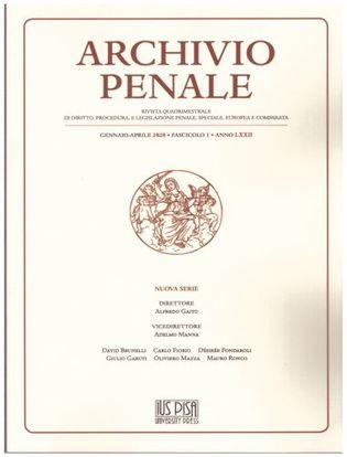 Immagine di Archivio Penale 1/2020.