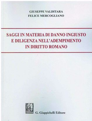 Immagine di Saggi in materia di danno ingiusto e diligenza nell'adempimento in diritto romano