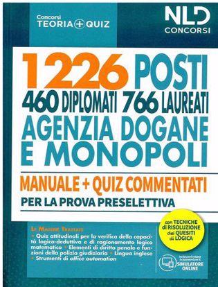 Immagine di Concorso 1226 posti agenzia delle Dogane e dei Monopoli. Manuale completo + Quiz per la prova preselettiva