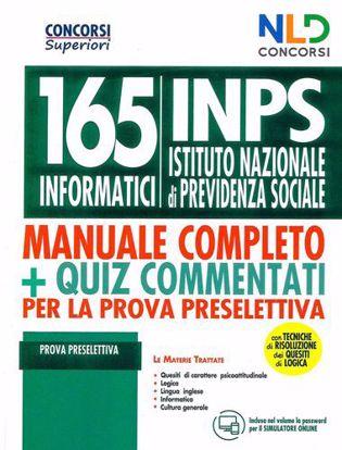 Immagine di Concorso 165 informatici INPS. Manuale + Quiz per la prova preselettiva. Con tecniche di risoluzione dei quesiti di logica