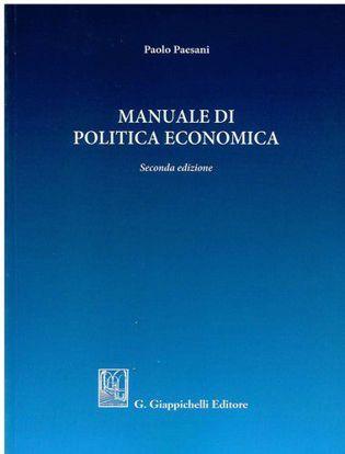 Immagine di Manuale di politica economica