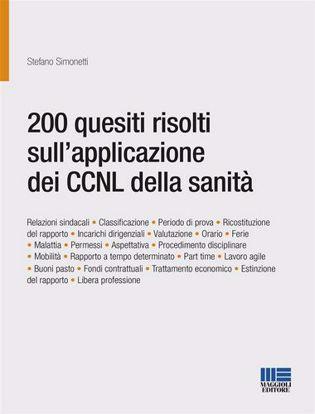 Immagine di 200 quesiti risolti sull'applicazione dei CCNL della sanità