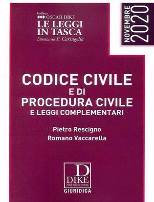 Immagine di Codice civile e codice di procedura civile e leggi complementari. Ediz. pocket Novembre 2020