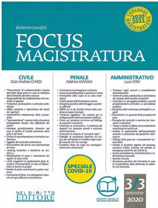 Immagine di Focus Magistratura N. 3 - 2020