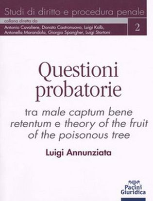 Immagine di Questioni probatorie. Tra male captum bene retentum e theory of the fruit of the poisonous tree