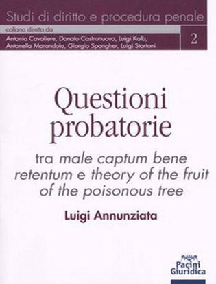 Immagine di Questioni probatorie. Tra male captum bene retentum e theory of the fruit of the poisonous tree