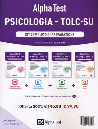 Immagine di Alpha Test. Psicologia. TOLC-SU. Kit di completo di preparazione