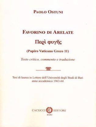 Immagine di Favorino di Arelate (Papiro Vaticano Greco 11). Testo critico, commento e traduzione