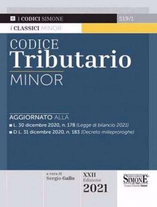 Immagine di Codice tributario minor. Ed. Gennaio 2021