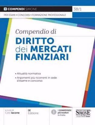 Immagine di Compendio di diritto dei mercati finanziari