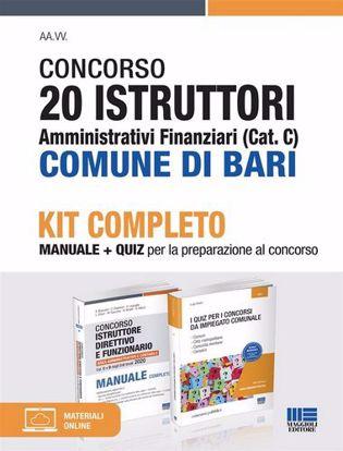 Immagine di Concorso 20 istruttori amministrativi finanziari (Cat. C) Comune di Bari. Kit completo. Con Contenuto digitale per accesso on line