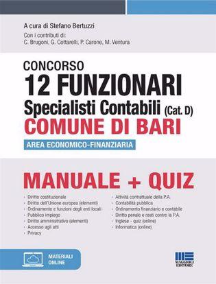 Immagine di Concorso 12 funzionari specialisti contabili (Cat. D) Comune di Bari. Area economico-finanziaria. Manuela + quiz. Con espansione online