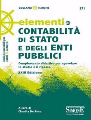 Immagine di Elementi di contabilità di Stato e degli enti pubblici Complemento didattico per agevolare lo studio e il ripasso