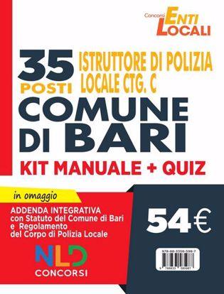 Immagine di Comune di Bari. 35 posti Istruttore di Polizia Locale Cat. C. Kit Manuale + Quiz