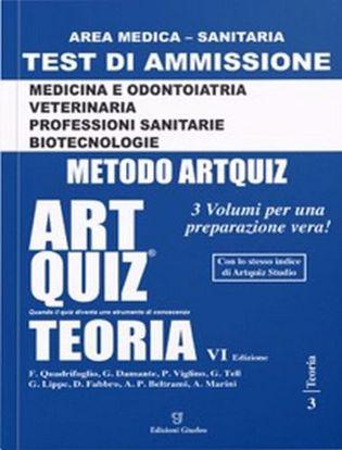 Immagine di Artquiz studio. Test di ammissione a: medicina, odontoiatria, veterinaria, professioni sanitarie, biotecnoloolge. Area medica-sanitaria