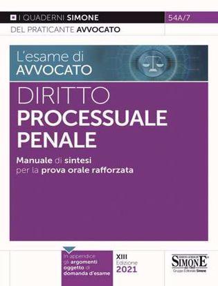 Immagine di Diritto processuale penale. Manuale di sintesi per la prova orale rafforzata