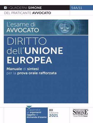 Immagine di Diritto dell'Unione Europea. Manuale di sintesi per la prova orale rafforzata