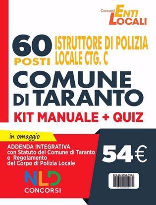 Immagine di Comune di Taranto: 60 Posti Polizia Locale Cat. C. Kit Manuale + Quiz per concorso Vigile Urbano