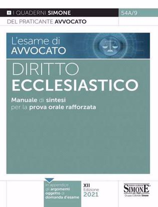 Immagine di Diritto ecclesiastico. Manuale di sintesi per la prova orale rafforzata