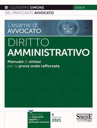 Immagine di Diritto amministrativo. Manuale di sintesi per la prova orale rafforzata