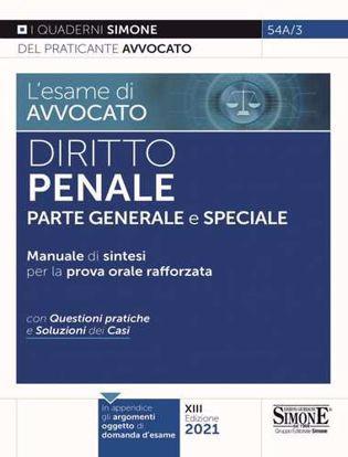 Immagine di Diritto penale. Parte generale e speciale. Manuale di sintesi per la prova orale rafforzata. Con questioni pratiche e soluzioni dei casi