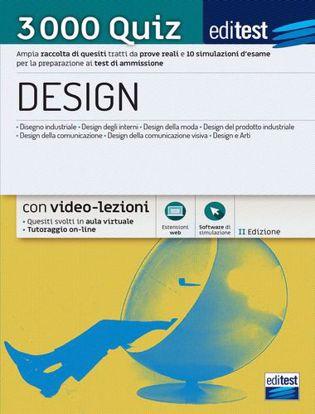 Immagine di Test ammissione Design 2021: raccolta di 3.000 quiz. Con software di simulazione