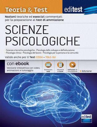 Immagine di EdiTEST. Scienze psicologiche 2021: manuale di teoria e test. Valido anche per il Tolc-Su. Con ebook. Con software di simulazione