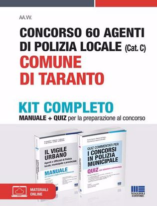Immagine di Concorso 60 agenti di polizia locale (Cat. C). Comune di Taranto. Kit completo. Con espansione online