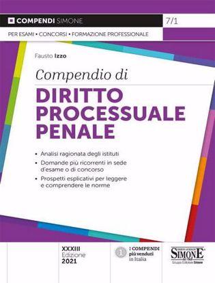 Immagine di Compendio di diritto processuale penale