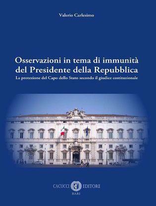 Immagine di Osservazioni in tema di immunità del Presidente della Repubblica